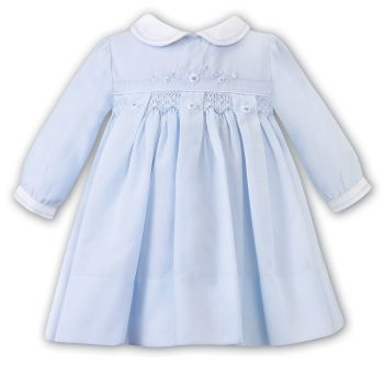 Girls Sarah Louise Dress 012459 Blue and White