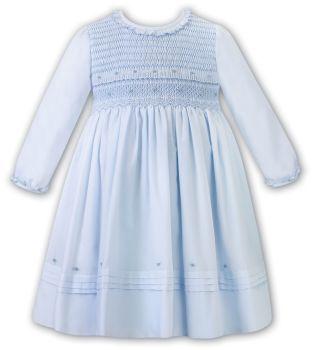 Girls Sarah Louise Dress 012472 Blue and White