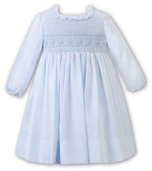 Girls Sarah Louise Dress 012473 Blue