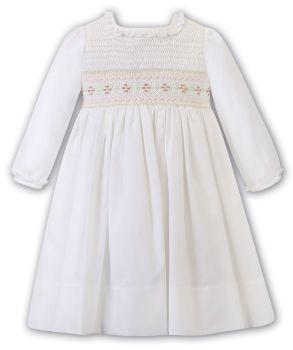 Girls Sarah Louise Dress 012473 Ivory