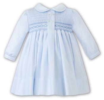 Girls Sarah Louise Dress 012481 Blue and White