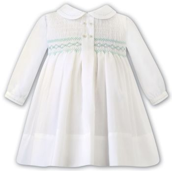 Girls Sarah Louise Dress 012481 Ivory and Mint