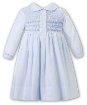 Girls Sarah Louise Dress 012482 Blue and White