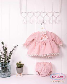 Girls Eva Class Pink Dress and Pants 12009