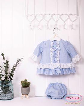 Girls Eva Class Blue Dress and Pants 12013