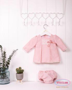 Girls Eva Class Pink Dress and Pants 12016