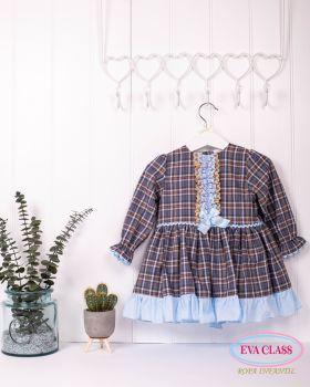 Girls Eva Class Navy Dress 12411