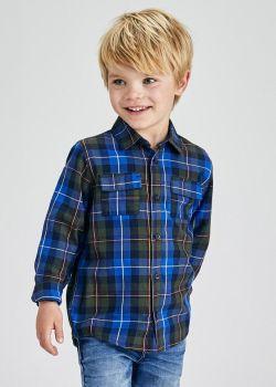 Boys Mayoral Long Sleeve Shirt 4162 Navy 10