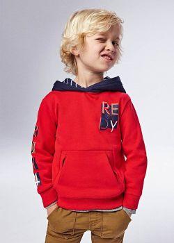 Boys Mayoral Hoodie 4407 Red 77