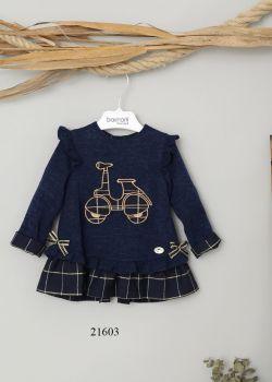 Girls Basmarti Navy Dress 21603