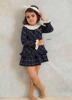 Girls Basmarti Navy Dress 21611