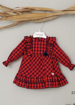Girls Basmarti Red and Navy Dress 21741