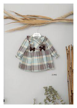 Girls Basmarti Chocolate and Lime Dress 21902