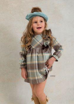 Girls Basmarti Chocolate and Lime Dress 21912