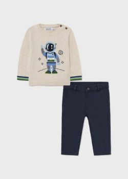 Boys Mayoral Sweater and Trousers Set 2538 Blue 92