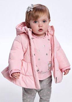 Girls Mayoral Coat 2438 Rose 27