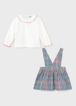 Girls Mayoral Top and Skirt Set 2932 Blue 7