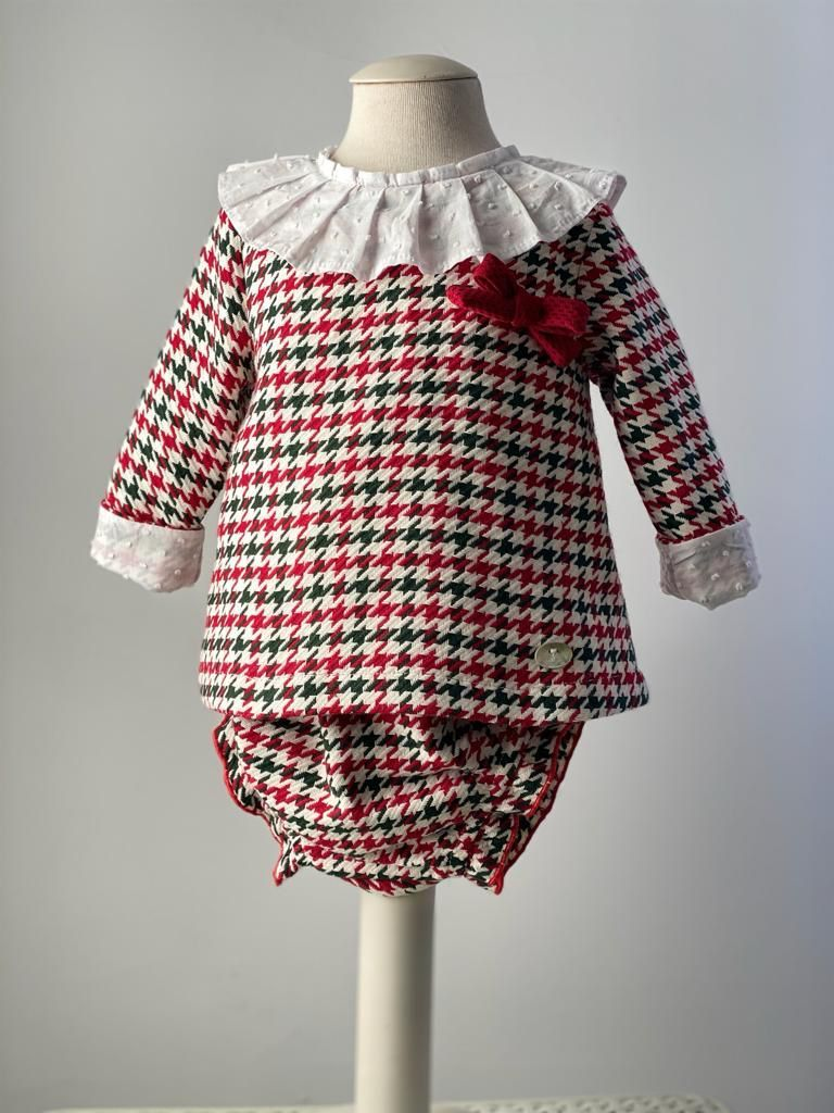 Girls Cuka Red, White and Green Dress and Pants 21990