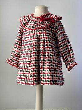 Girls Cuka Red, White and Green Dress 21991