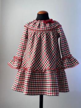 Girls Cuka Red, White and Green Dress 21995