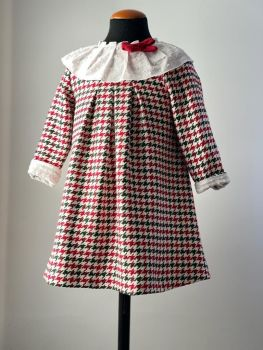 Girls Cuka Red, White and Green Dress 21992