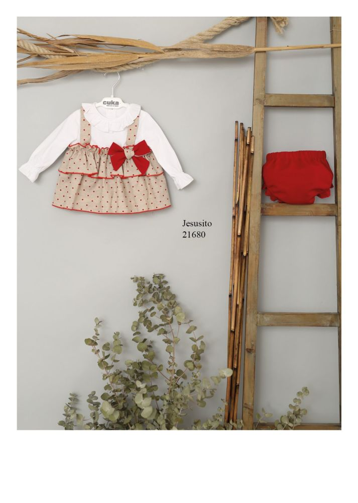 Girls Cuka Red and Beige Set 21680