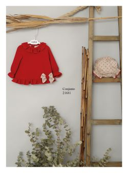 Girls Cuka Red and Beige Set 21681