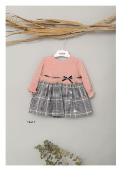 Girls Cuka Pink and Black Dress 21622