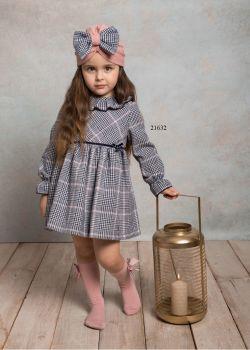 Girls Cuka Pink and Black Dress 21632