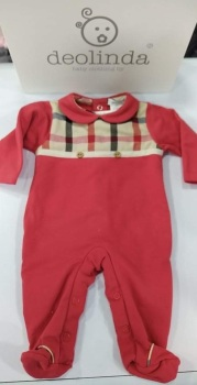 Boys Deolinda Babygrow DBI21301 Red