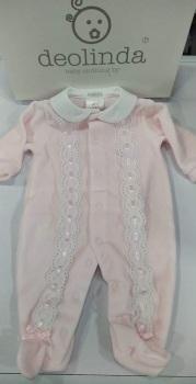 Girls Deolinda Babygrow DBI21336 Pink