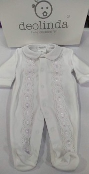 Unisex Deolinda Babygrow DBI21336 White