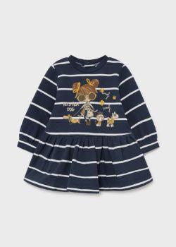 Girls Mayoral Dress 2929 Ink 10