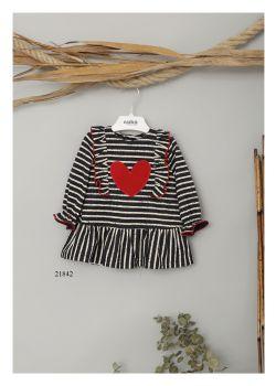Girls Cuka Red, White and Black Dress 21842