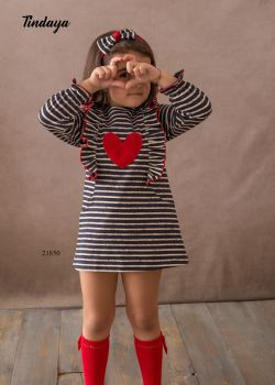 Girls Cuka Red, White and Black Dress 21850