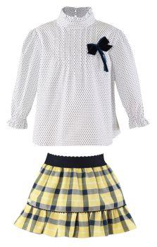 Girls Miranda Yellow and Navy Skirt Set 236