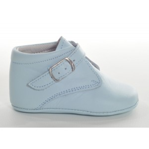 Baby Boys Blue Leather Soft Sole Boot