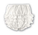 Girls Sarah Louise Frilly Pants - Ivory