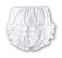 Girls Sarah Louise Frilly Pants - White