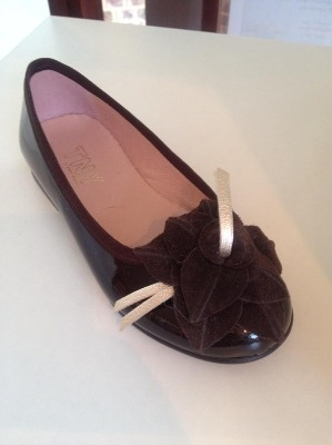 Girls TNY Brown Patent Shoes