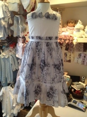 Girls Dolce Lily Silver and White Dress
