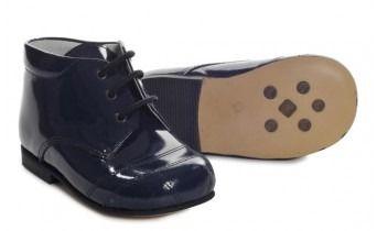 Boys Navy Patent Boot