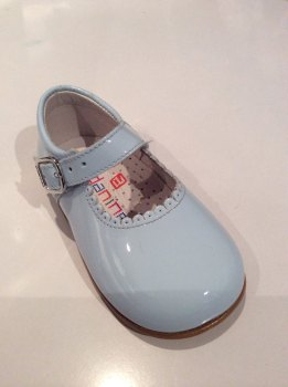 Girls Andanines Blue Patent Mary Jane Shoes