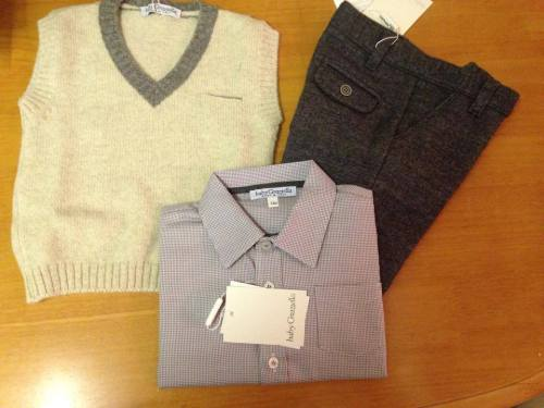 Boys Baby Graziella Trousers, Shirt and Sweater