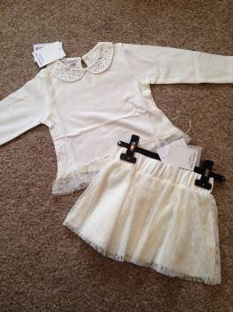 CLEARANCE PRICE Girls Coccobirillo by Baby Graziella Top and Skirt Set
