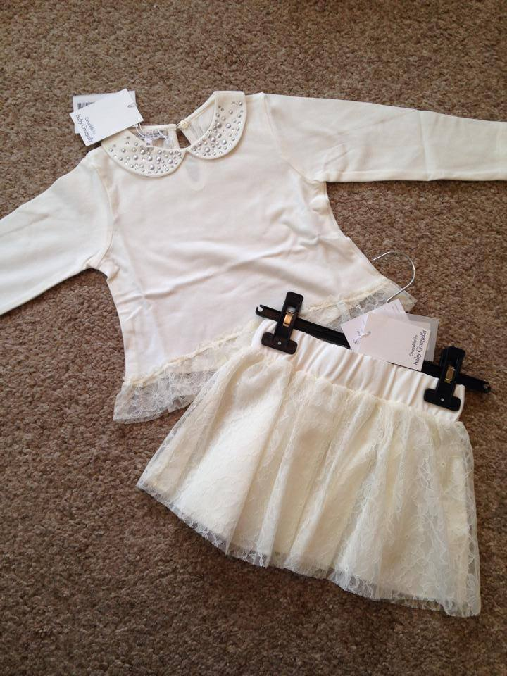 Girls Coccobirillo by Baby Graziella Top and Skirt Set