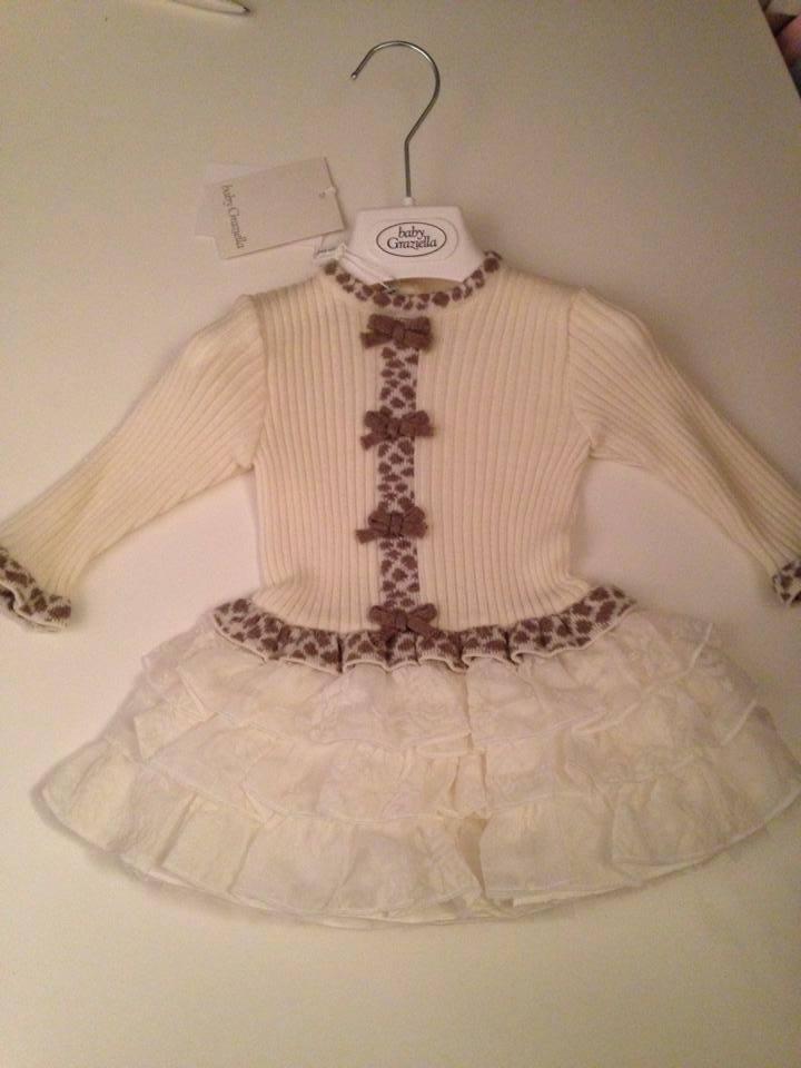 Girls Baby Graziella Cream Dress
