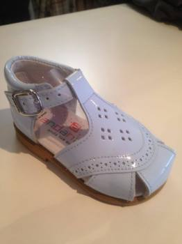 CLEARANCE PRICE NOW ONLY £25 Boys Andanines Sandals Blue Patent