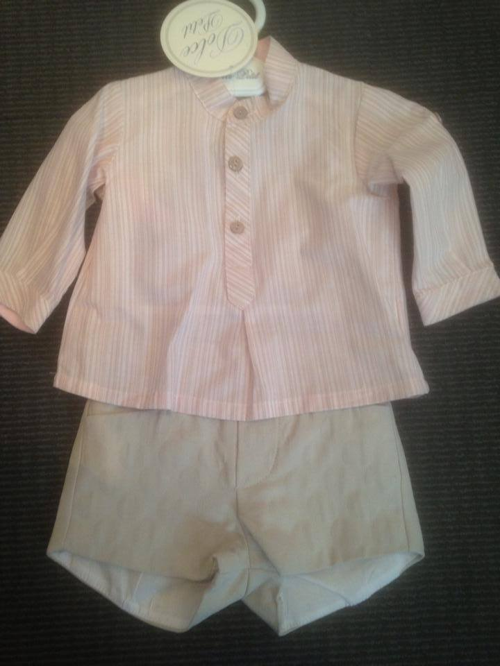 Boys Dolce Petit Pink and Beige Set