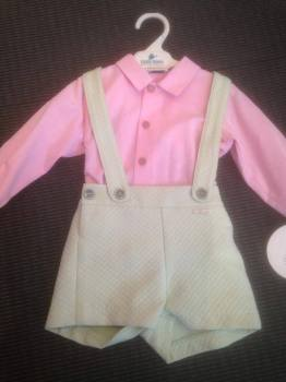 CLEARANCE PRICE Boys Miranda Lime and Pink Set